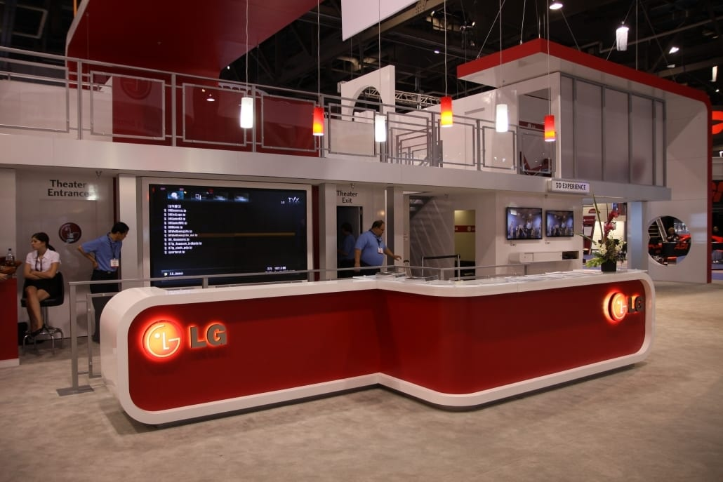 Trade show Exhibit for LG Electronics @ Infocomm
