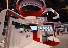 Trade show Exhibit for LG Electronics @ Infocomm