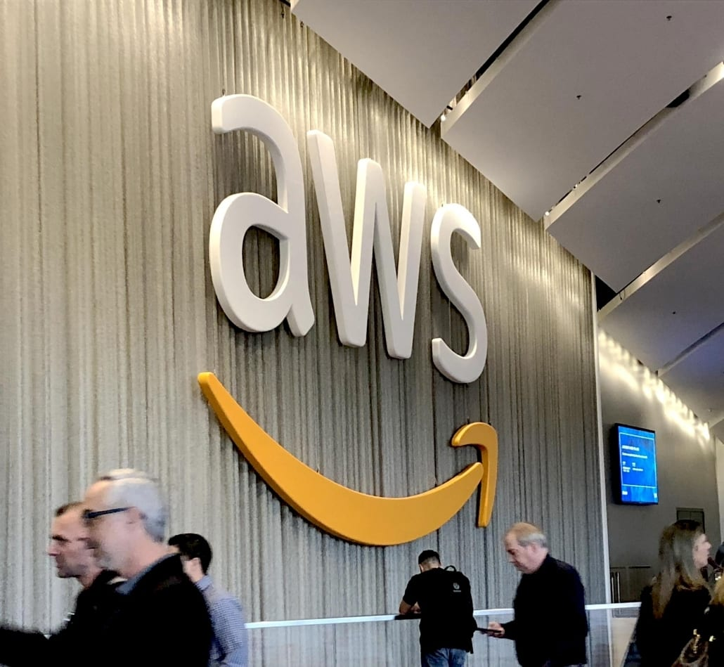 Amazon AWS 3D Sign