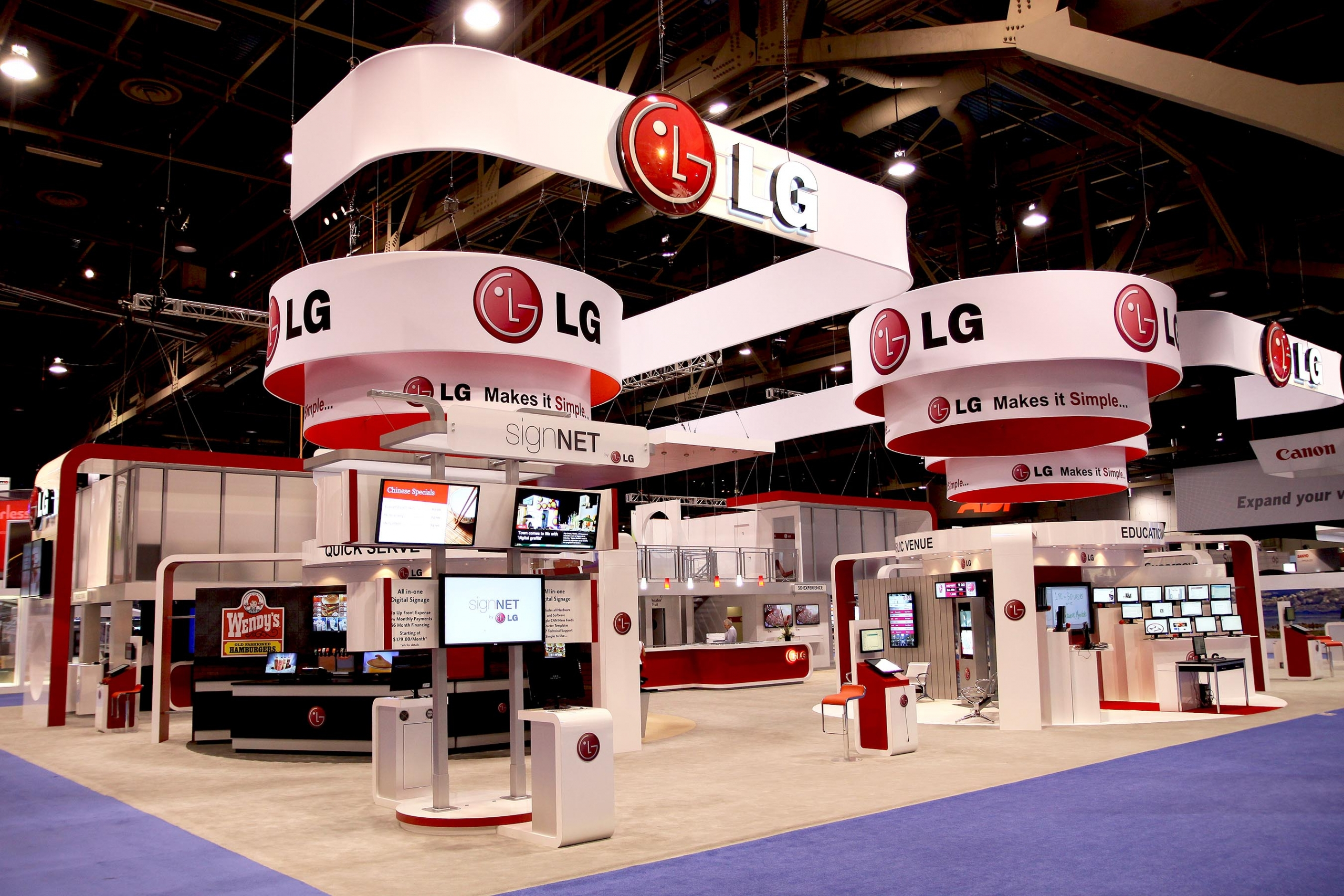 LG Trade Show Booth Graphics