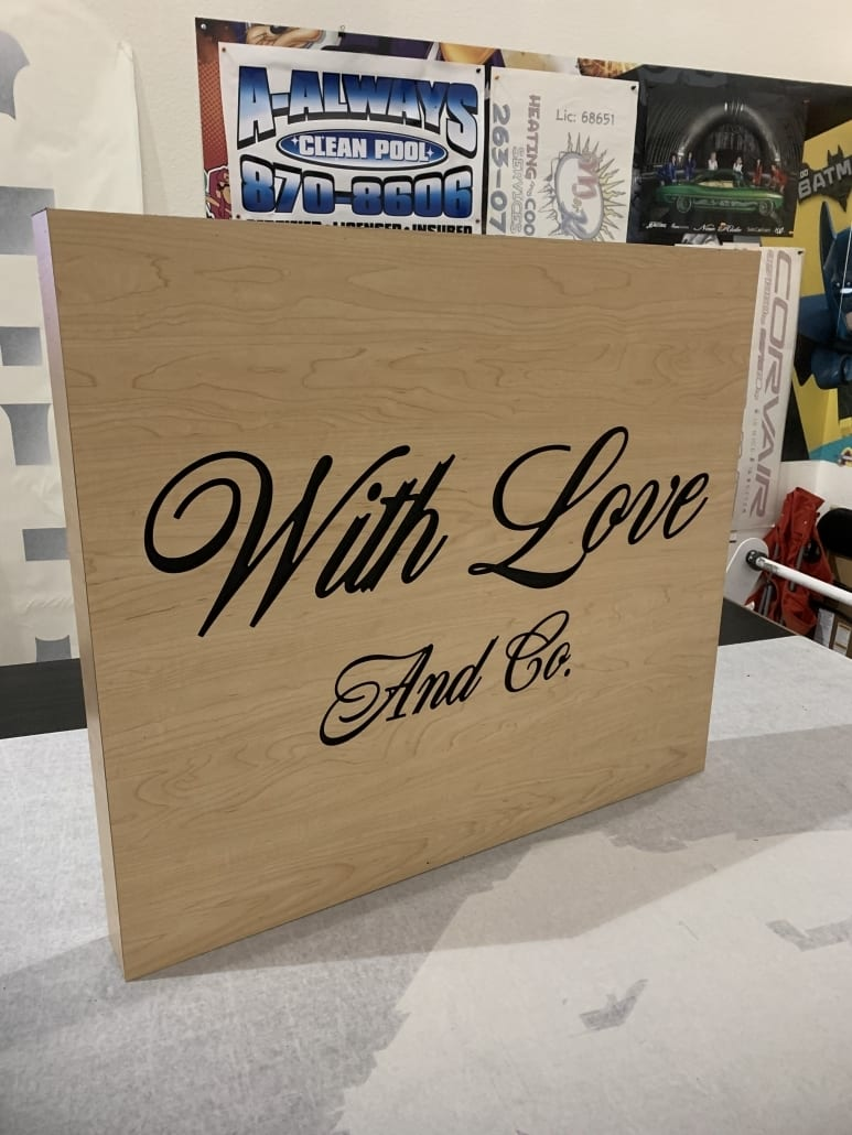 With Love & Co. Outdoor blade Sign
